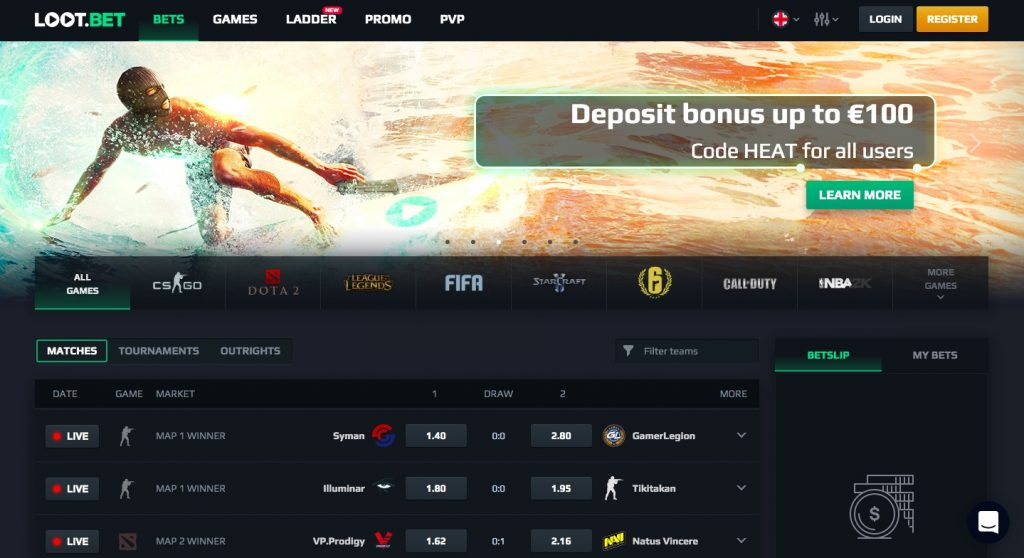 Lootbet main page